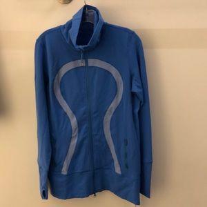 Lululemon blue and white jacket, sz 12, 65836